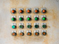 Old electrical panel board with full of rust Royalty Free Stock Photo