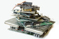 Old electronic parts Royalty Free Stock Photo