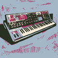 Old electronic synthesizer Royalty Free Stock Photo