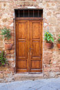 Old elegant door in italy wooden italian vilage Royalty Free Stock Photos