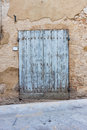 Old elegant door in italy wooden italian vilage Stock Photo