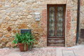 Old elegant door tuscan italy of Stock Photography