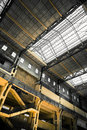 Old empty industrial building roof and staircase Royalty Free Stock Photo