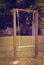 Old empty swing childhood memories Royalty Free Stock Photos