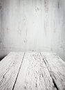 Old empty wooden table white Royalty Free Stock Images