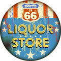 Old enamel liquor store sign Royalty Free Stock Photo