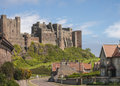 Old English Castle Bamburgh Royalty Free Stock Photo