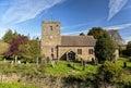 Old English Church, Stokesay, Shropshire, England Royalty Free Stock Photo