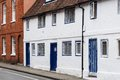 Old english cottage row of terraced cottages in winchester hampshire england Royalty Free Stock Images