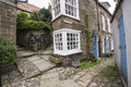 Old english country cottage in village Royalty Free Stock Photo