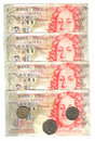 Old english money Royalty Free Stock Photo