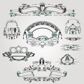Old engraving banner with warior grape and isects there are some Royalty Free Stock Photos