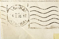Old envelope with post mark for background use Royalty Free Stock Photos