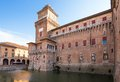 Old estense castle in ferrara italy Stock Photography