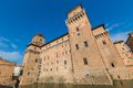 Old estense castle in ferrara italy Royalty Free Stock Photos