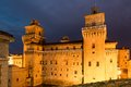 Old estense castle in ferrara italy Royalty Free Stock Images