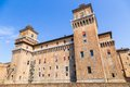 Old estense castle in ferrara italy Stock Photo