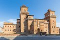 Old estense castle in ferrara italy Royalty Free Stock Photo