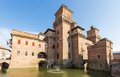Old estense castle in ferrara italy Stock Image