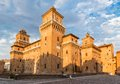 Old estense castle in ferrara italy Royalty Free Stock Image