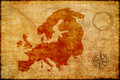 Old europe map on parchmment Royalty Free Stock Photo