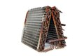 Old evaporator coil the front angle of an a frame taken from a ton residential r straight capillary system Royalty Free Stock Photo