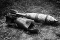 Old exploded and unexploded missiles of second world war an Stock Photos