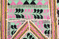 Old fabric colorful oriental with geometric pattern Royalty Free Stock Photos