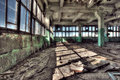 Old factory abandoned indoors hdr image Stock Photography