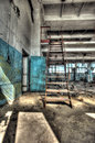 Old factory abandoned indoors hdr image Royalty Free Stock Images