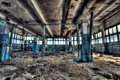 Old factory abandoned indoors hdr image Royalty Free Stock Photo