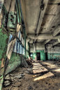 Old factory abandoned indoors hdr image Royalty Free Stock Photography