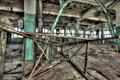 Old factory abandoned indoors hdr image Stock Images