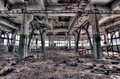 Old factory abandoned indoors hdr image Stock Photo