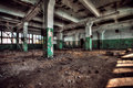 Old factory abandoned indoors view Royalty Free Stock Photos