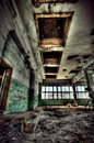 Old factory abandoned indoors view Stock Photos