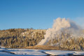 Old faithful in yellowstone park Royalty Free Stock Photography