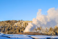 Old faithful in yellowstone park Royalty Free Stock Photos