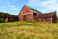Old falling down barn an in rural backcountry vermont Stock Photography