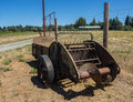 Old farm equipment at vineyard Royalty Free Stock Photo