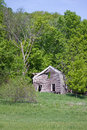 An old farm house this has been abandoned for many years it continues to deteriorate each year it is located in rural sibley Stock Photography
