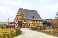 Old farm house in the hessenpark Stock Photos