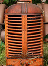 Old farm tractor engine grill. Royalty Free Stock Images