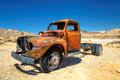 Old farm truck left in ghost town in the desert Royalty Free Stock Photo