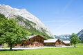 Old farmhouse karwendel mountain austria Stock Photography