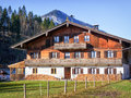 Old farmhouse typical at the european alps Royalty Free Stock Photography