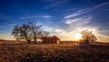 Old Farmhouse Under Deep Blue Sky Royalty Free Stock Photo