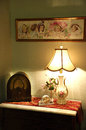 Old Fashiioned Antique Lamp and Radio Royalty Free Stock Photo