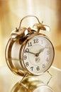 Old fashion alarm clock Royalty Free Stock Photo
