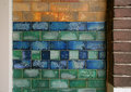 Old fashion glazed tiles Royalty Free Stock Photography